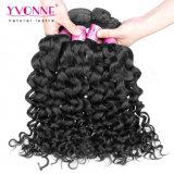 Cabelo 100% Curly cambojano de Remy do Virgin na cor natural