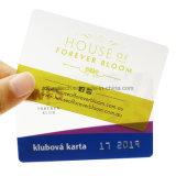 플라스틱 명확한 카드 또는 투명한 PVC 명함