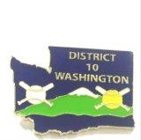 기념품 (XG-29)를 위한 주문 금속 40 기념일 학교 접어젖힌 옷깃 Pin