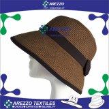 STROH-Wannen-Hut der Frauen Papier(AZ015A)
