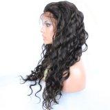 Perruque normale d'onde de corps de lacet d'avant de cheveux humains de Dlme pour des femmes de couleur