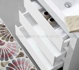 Assoalho da laca que está o gabinete da vaidade do banheiro do projeto moderno (ACS1-L68)