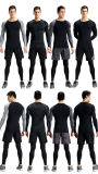 Abiti sportivi elastici stretti della maglietta di forma fisica del manicotto lungo asciutto rapido di usura