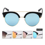 Cat Eye Female Fashion High Quality Mirror Sunglasses (HFF0016)