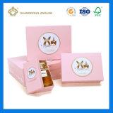 Preiswertes kundenspezifisches Qualitäts-kosmetisches Papier-verpackengeschenk-Kästen (mit Papier gestempelschnittenem Tellersegment)