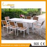 Mobilia stabilita pranzante di vimini moderna del giardino del rattan della Tabella della presidenza per esterno/domestico/hotel