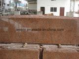 Granit des China-Steinbruch-preiswertester Rot-G562, Ahornholz-rote Granit-Wandverkleidung