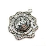 Mode Bijoux en acier inoxydable déesse Necklace Silver Poignée de commande