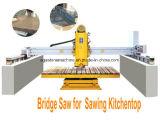 Marbre en pierre automatique de granit de Sawing de machine de découpage de passerelle (HQ600)