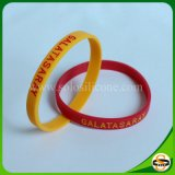 Kundenspezifische Firmenzeichen-Text-Handgelenk-Bänder verdünnen Silikon-GummiWristband