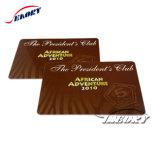 Impressão de 4 cores a adesão de plástico Cartão VIP com código de barras