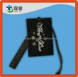 Étiquette du fabriquant de vêtements à la mode avec l'ombrage et la chaîne de caractères de Rose