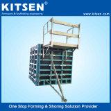 De Muur van Kitsen K100 en het Systeem van de Bekisting van de Kolom