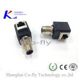 M12 3, 4, 5, 6, 8, 10 контактный RJ45 колено электрический разъем сетевого адаптера
