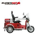 Banco traseiro de refrigeração e elevado do ar Disabled do triciclo 110cc com correia de segurança