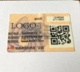 Étiquette évidente de degré de sécurité de bourreur avec fonction de contrefaçon de code à barres l'anti