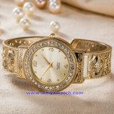 남자 숙녀 (WY-17007A)를 위한 주문 로고 석영 시계 형식 손목 시계