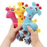 Prodotto all'ingrosso del giocattolo del cane della peluche della giraffa della fabbrica, rifornimento dell'animale domestico