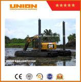 猫320dの泥地バギーの水陸両用浚渫の掘削機