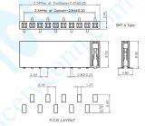 U Type H: 8.5mm embase femelle à simple rangée connecteur embase femelle CMS