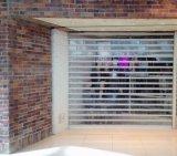 Porta do Cilindro transparente material obturador de rolamento de porta