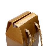 Laminación de brillante color oro Hot Stamping papel Craft Bolsas de regalos para el vino