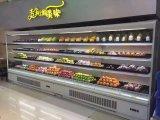 Les équipements frigorifiques de supermarché, réfrigérateur d'affichage de fruits avant ouverte