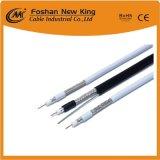 Muestras gratis CCS Cable coaxial RG6 con dos 7*0,41 o 15*0,23 mm cable de alimentación de la CCA