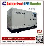 generatore diesel silenzioso di 50kw/62.5kVA 50Hz alimentato da Cummins Engine-20171017c