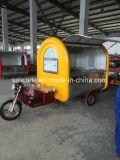 Carro móvel do fast food da rua para petiscos de Hamberger do gelado