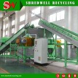 Sucata de eixo duplo Triturador de impressora para a reciclagem de resíduos