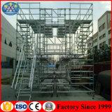 Sistema del andamio de Quicklock usado en construcción concreta