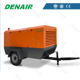 Compresor de aire movible a diesel industrial usado para el taladro de roca