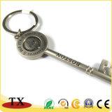 Catena chiave del metallo di figura di tasto della perla dell'oggetto d'antiquariato di favore di cerimonia nuziale