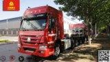 熱い販売! HOWOのトラクターはヘッド371HPトレーラトラックをトラックで運ぶ