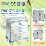 Carro barato da anestesia do hospital do aço inoxidável de Thr-Zy104-II