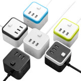 Smart Power Cube Mini Universal Multi Socket Travel Plug avec USB