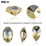 Nieuwst naai op de Steen Champagne Rivoli van het Kristal naaien op het Bergkristal van het Glas (SW -sW-cchampagne)