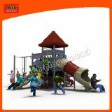 Nouveau design PE Conseil Kids Terrain de jeux extérieur avec la diapositive en acier inoxydable