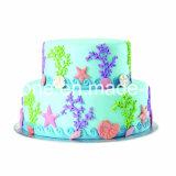 Торт украшая прессформу Fondant силикона
