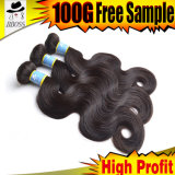 Полная надкожица в выдвижениях волос 100% бразильских