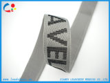 Courroie personnalisée de jacquard de polyester de configuration de logo pour des vêtements/chaussures