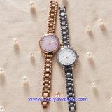 Montres-bracelet en acier faites sur commande du mouvement de quartz du Japon pour les dames de femme (WY-17002D)