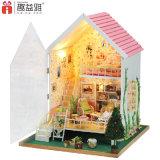 Розовый симпатичный миниатюрный деревянный магазин дома куклы игрушки DIY