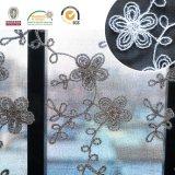 Tela Chiffon C20002 de la falda de la tela de la flor de la venta del bordado caliente del algodón