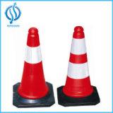 PVC vermelho da base nós cone padrão do tráfego