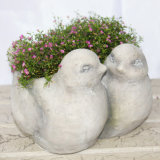 Украшение Flowerpot формы гранита животное для сбывания