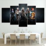Caráteres selvagens do jogo do filme da caça de Witcher do poster moderno do painel da arte 5 da parede da cópia dos retratos HD da lona que pintam o frame Home da decoração