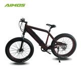 Aleación de aluminio de 26pulgadas neumático Fat E Bicicleta con Motor sin escobillas