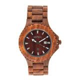 남자를 위한 주문을 받아서 만들어진 디자인 Quarrtz Handmade 싼 빨강 백단향 나무로 되는 시계